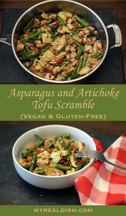 Asparagus Tofu Scramble